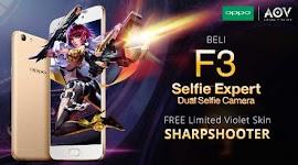 Event Spesial Garena AOV Main Game Hadiah Smartphone OPPO F3