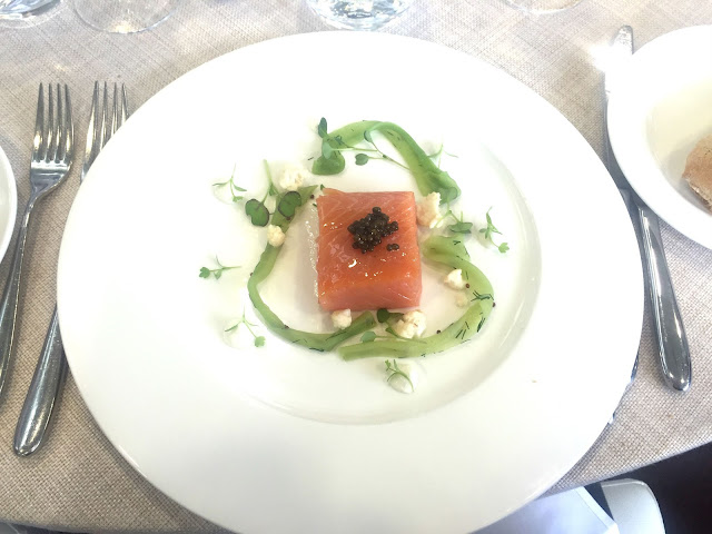 Raymond Blanc's Salmon Confit Panoramic Restaurant Ascot