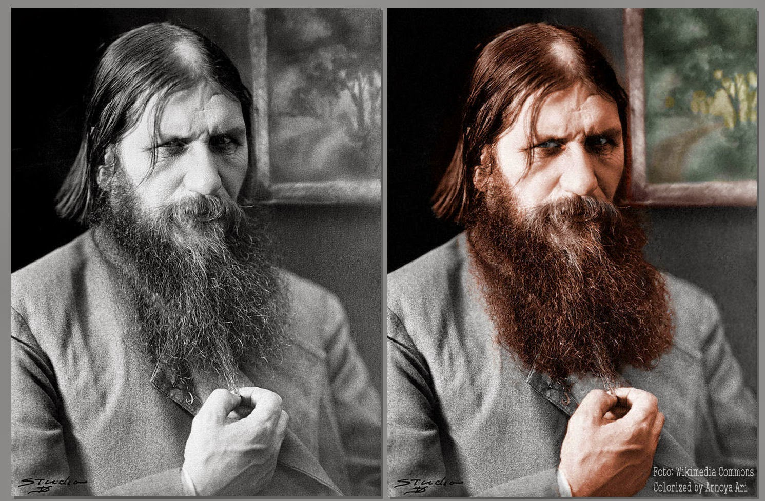 Grigori Yefimovich Rasputin,  color, colorization, colorized