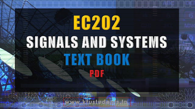 ktu textbook for Signals and Systems EC202  Textbook