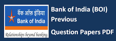Bank of India BOI Previous question papers pdf