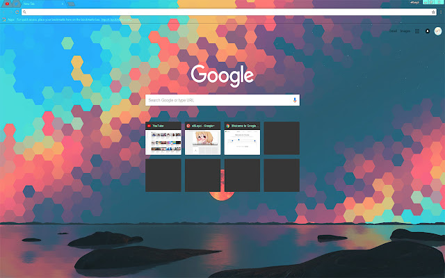 LEAFYISHERE Abstract Geometry Theme FOR Chrome 2018