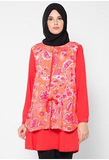 Model Batik Muslim Kerja Wanita Muda