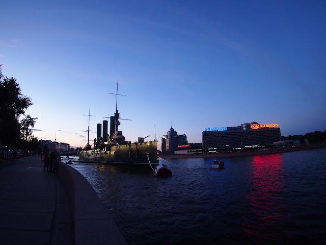 Krążownik Aurora, Petersburg.