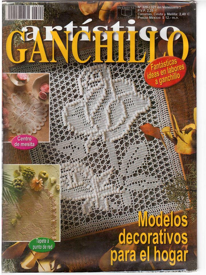 REVISTAS DE MANUALIDADES GRATIS: Ganchillo artístico 329 - revista ...
