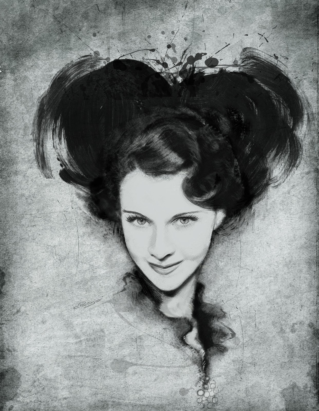 Doctor Ojiplático. Yuriy Ratush. Ilustración. Fashion Illustration. Vivien Leigh