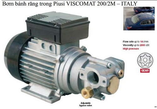 Bơm bánh răng trong Piusi VISCOMAT 200/2M - ITALY