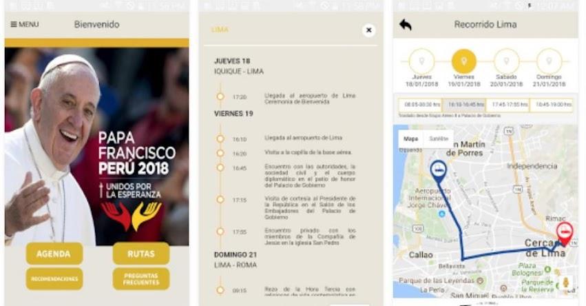 PAPA FRANCISCO EN PERÚ: Presentan aplicación sobre visita de Sumo Pontífice - www.papafranciscoenperu.pe