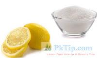 Lemon Juice And Sugar To Exfoliate