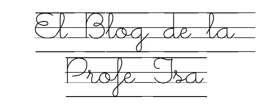 descargar letra ligada escolar para word