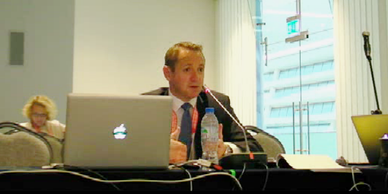 screenshot of ICANN's Consumer Safeguards Director Bryan Schilling at ICANN60