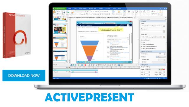كيفية تحميل والعمل على البرنامج المجاني ActivePresenter الغني عن التعريف في تصوير الشاشة بدقة عالية