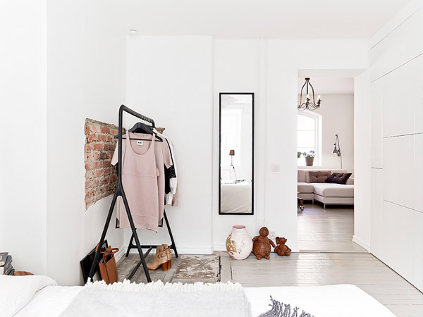 Scandinavian Style White Bedroom