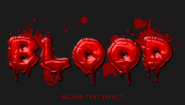 Realistic Blood Text Effect