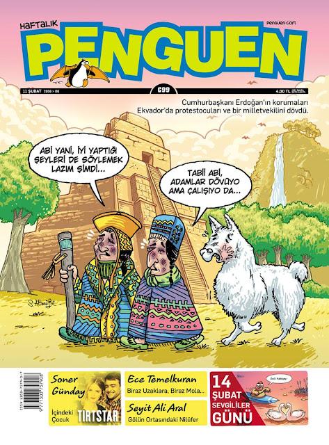 Penguen Dergisi - 12 Şubat 2016 Kapak Karikatürü