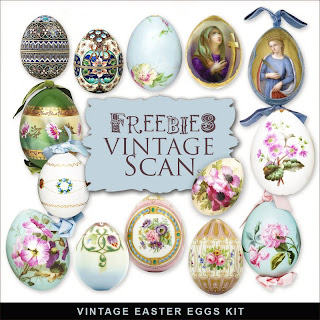 Freebies Vintage Eggs Kit.