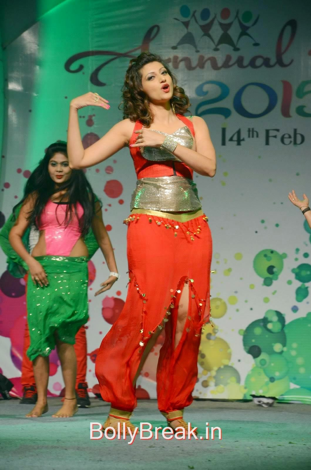 Hamsa Nandini Photos, Hamsa Nandini Hot Pics While Dancing in Red and Silver Dress