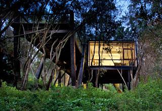 casa hermosa en el bosque