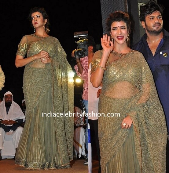 Lakshmi Manchu in Divya Gupta Saree