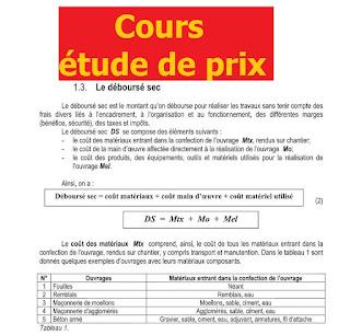 etude de prix btp gratuit, manuel de l'étude de prix - entreprises du btp pdf gratuit, cours etude de prix genie civil,