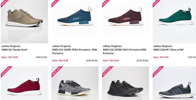 خصومات كبيرة على احذية #نايك و #اديداس في موقع Sneakersnstuff