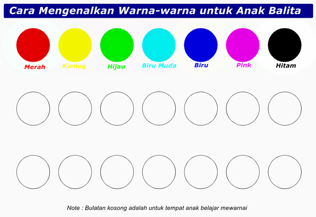 Karir Sekolah KU Cara Mengenalkan Warna Untuk Anak Balita