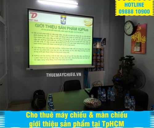 Cho thuê máy chiếu & màn chiếu giới thiệu sản phẩm tại TpHCM