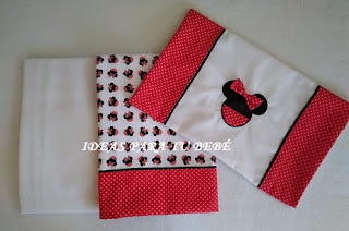 Sabanas de cuna Minnie Mouse