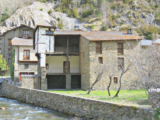 Traditional borda in Cortinada, Andorra