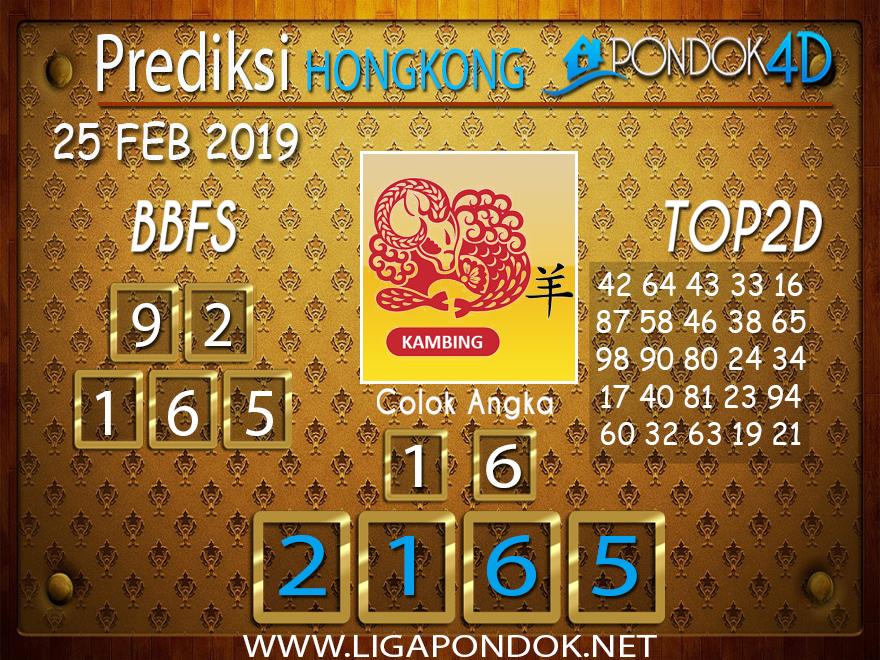 Prediksi Togel HONGKONG PONDOK4D 25 FEBRUARI 2019