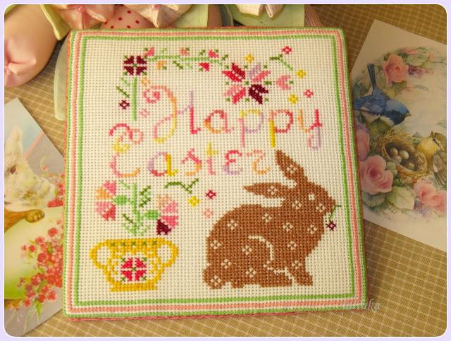 Happy Easter вышивка happy easter вышивка крестом пасхальный  кролик