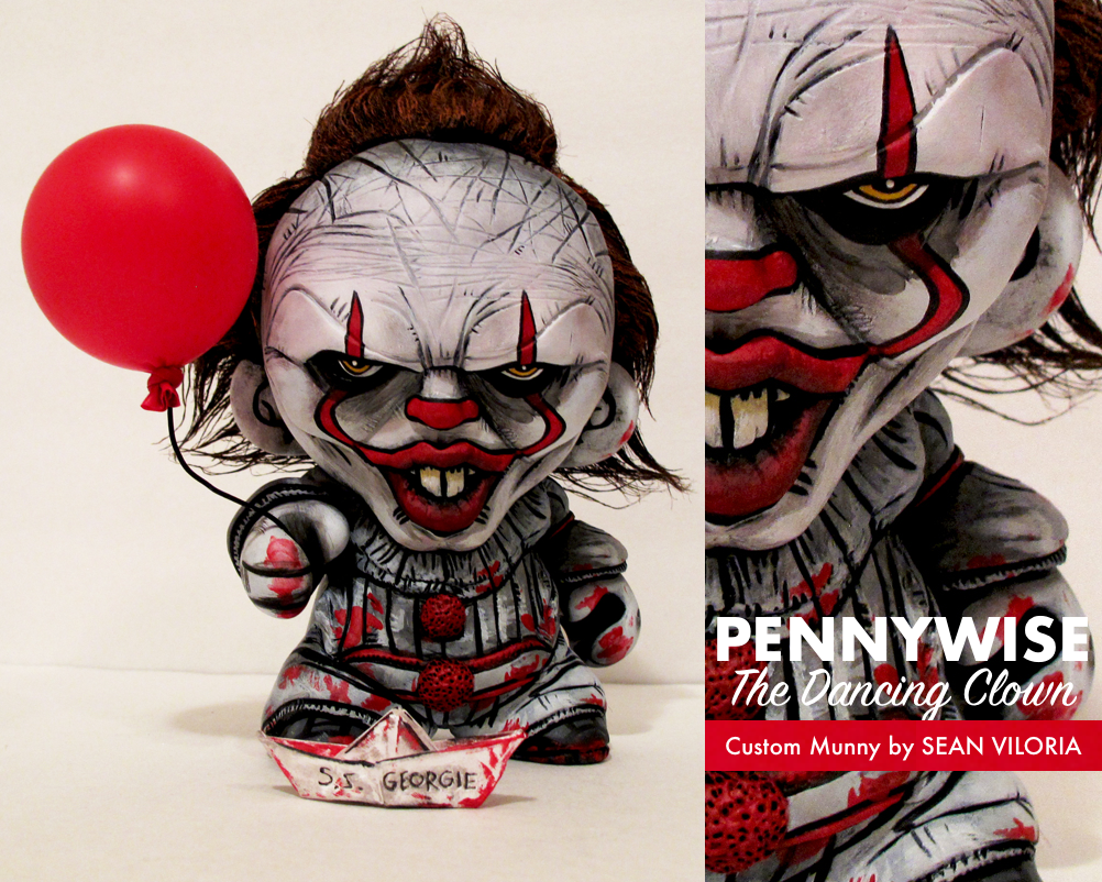 5253d2a89039 PENNYWISE THE DANCING CLOWN Custom Munny by SEAN VILORIA