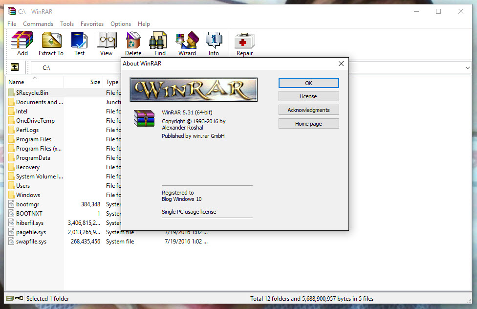 WinRaR 5.50 được phát hành với nhiều điểm mới