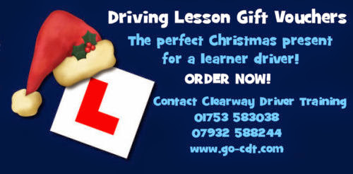 Driving Lesson Christmas Gift Vouchers 2014