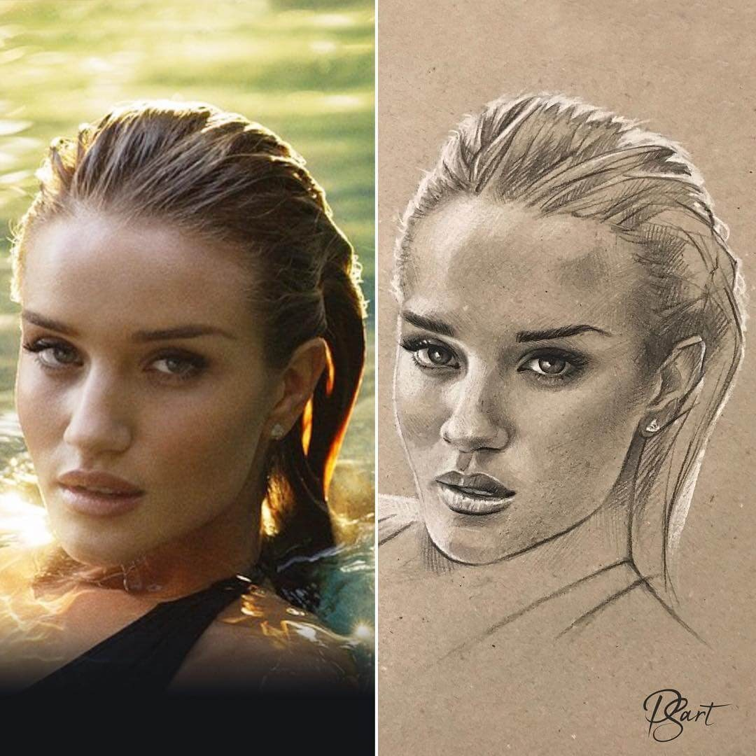 12-Rosie-Huntington-Pepper-Strokes-Traditional-Drawings-Pencils-and-Pens-www-designstack-co