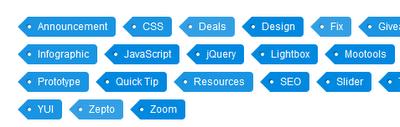 Label tag cloud design blogger