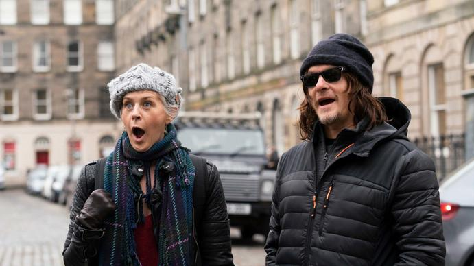 Melissa and Norman in England