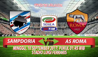 Prediksi Sampdoria vs AS Roma 10 September 2017