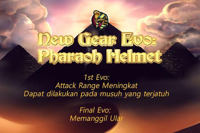 Pharaoh Helmet Evolution Lost Saga Indonesia