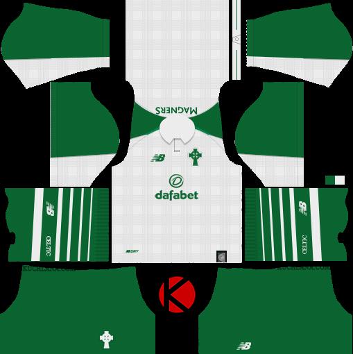 new concept b43aa d86cc Celtic FC 2018/19 Kit - Dream League Soccer Kits - Kuchalana