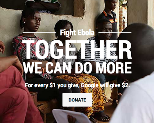 Doubling down on Ebola donations