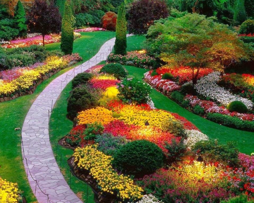 Imagenes De Jardines Con Flores: Patios Y Jardines
