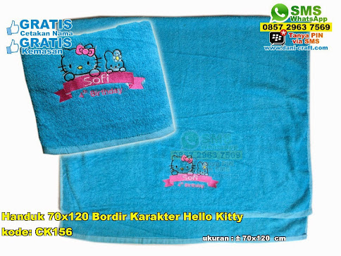 Handuk 70×120 Bordir Karakter Hello Kitty