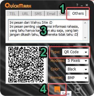 Membuat Pesan Rahasia dengan QR Code