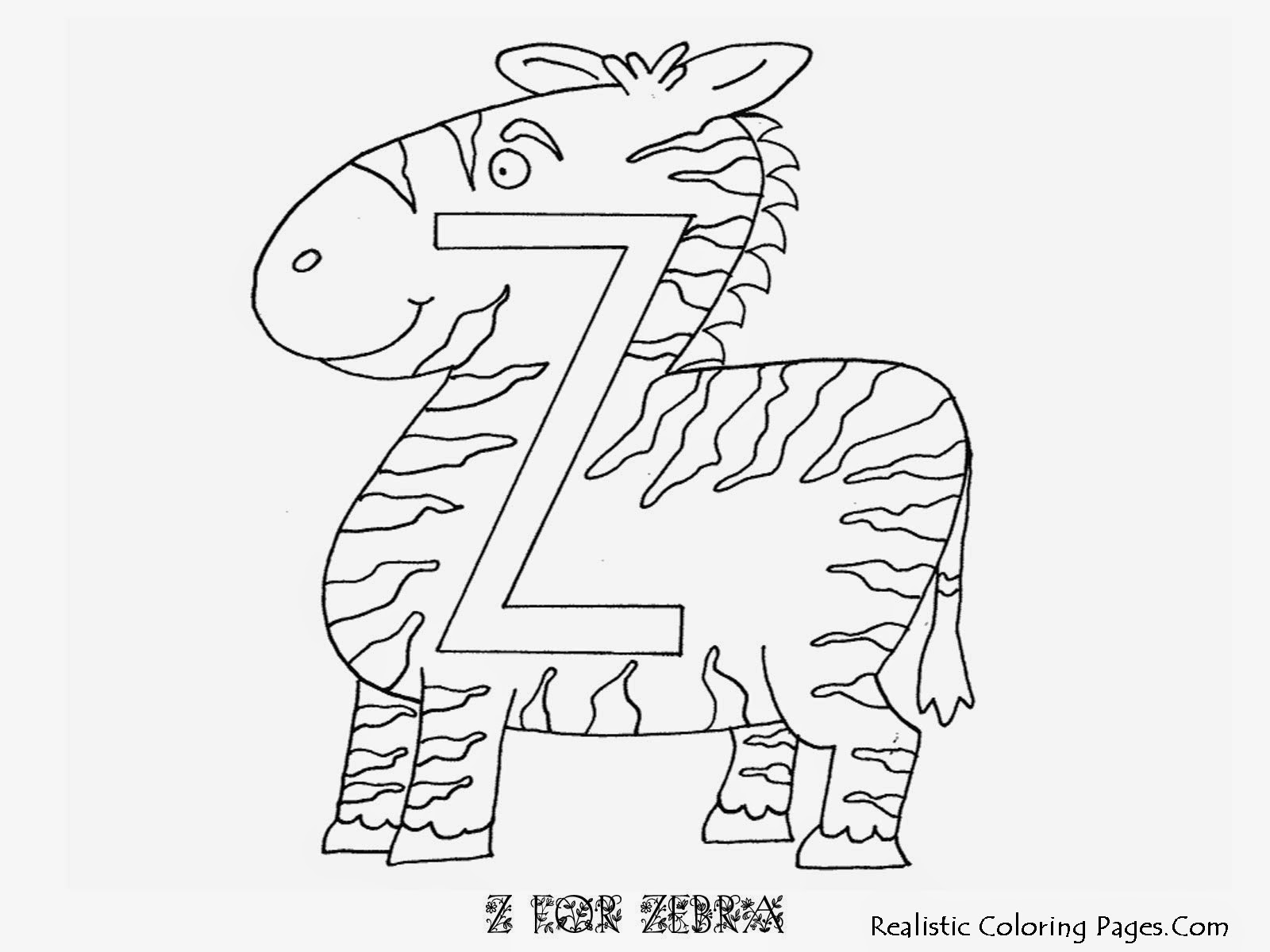 Zebra Z Letters Coloring Sheet
