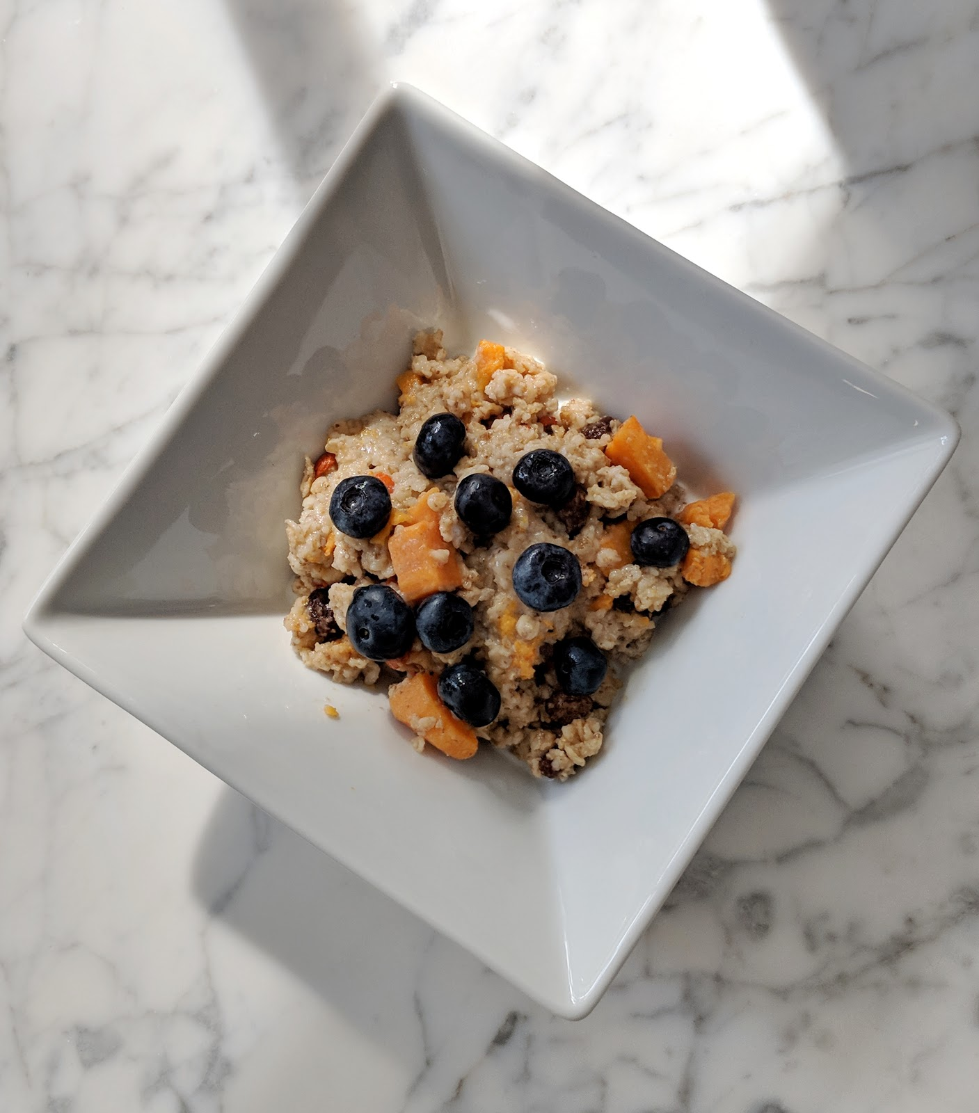 oatmeal with sweet potato toddler breakfast idea