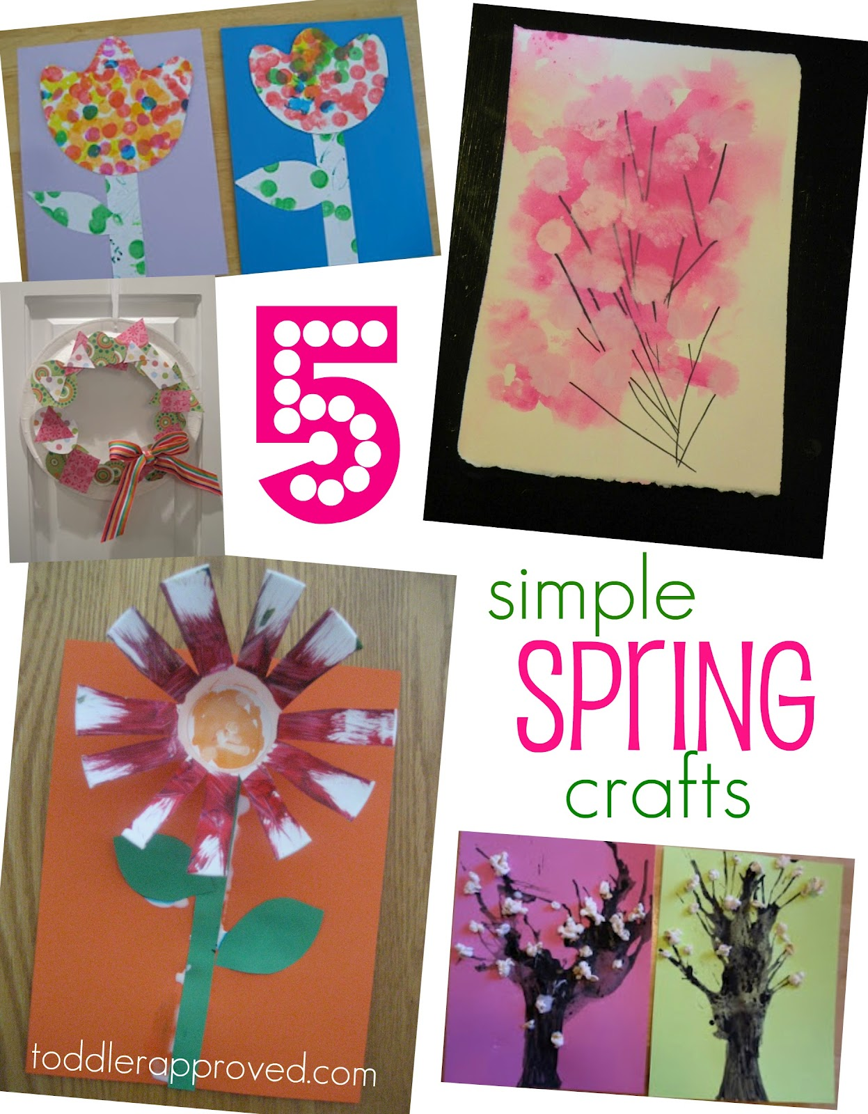 Toddler Approved 5 Simple Spring Crafts