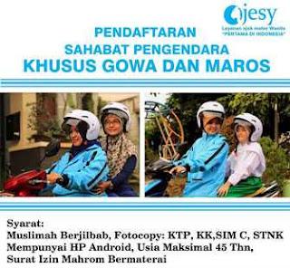 Lowongan Kerja Ojek Online Syariah Ojesy di Makassar