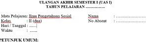 Soal UAS Semester 1 IPS Kelas 2 Dan Kunci Jawaban