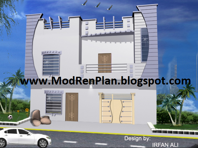 4 marla front elevation for Normal house front design